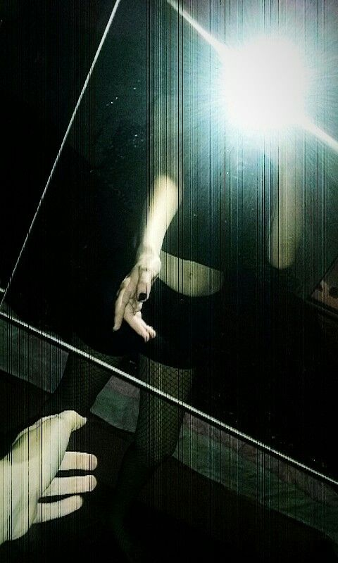 Own picture... *Wiwi*  #aesthetic #mirror #itsme #tumblr #grunge #alternative #emo #light #flash #black #deep #feelnothing #humalien #