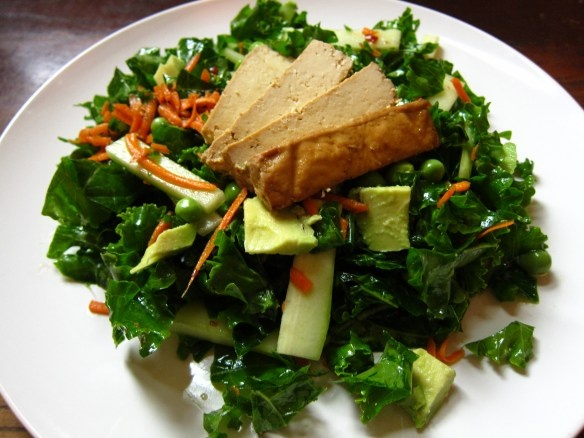 tofu with kale and red pepper mustard crusted tofu with kale and sweet ...