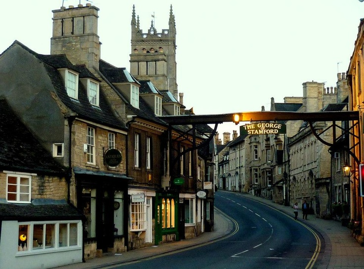 The High Street in Stamford, Lincolnshire, England