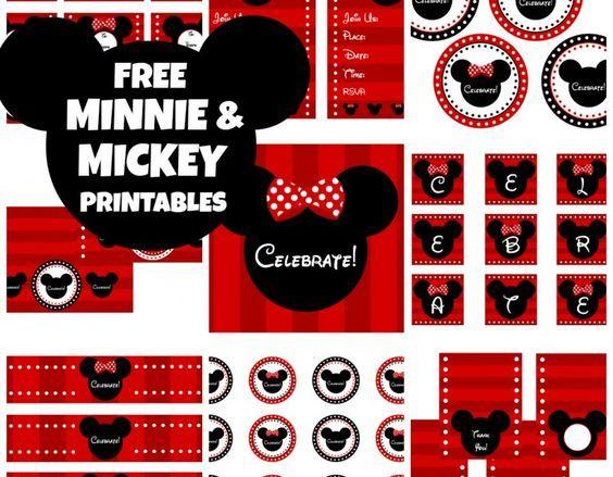 FREE MICKEY & MINNIE MOUSE PRINTABLES