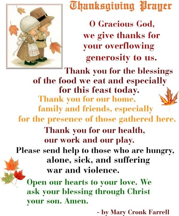 Thanksgiving Table Prayer