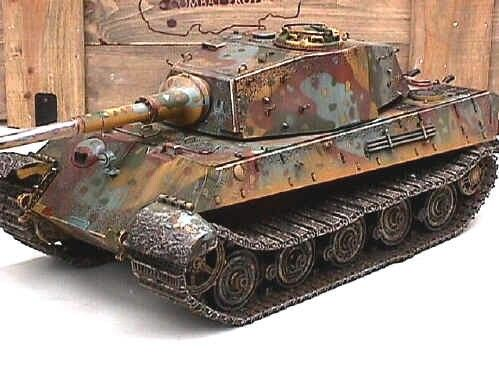 Scale model of a King Tiger tank