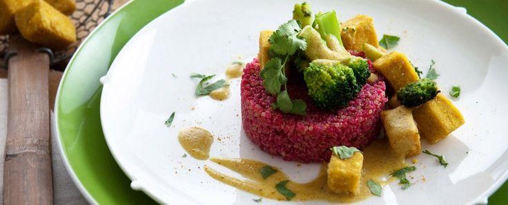 quinoa in rosa con curry di tofu Sale&Pepe ricetta