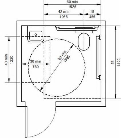 Floor Plans For a Public Handicap Bathroom - Yahoo Image Search Results