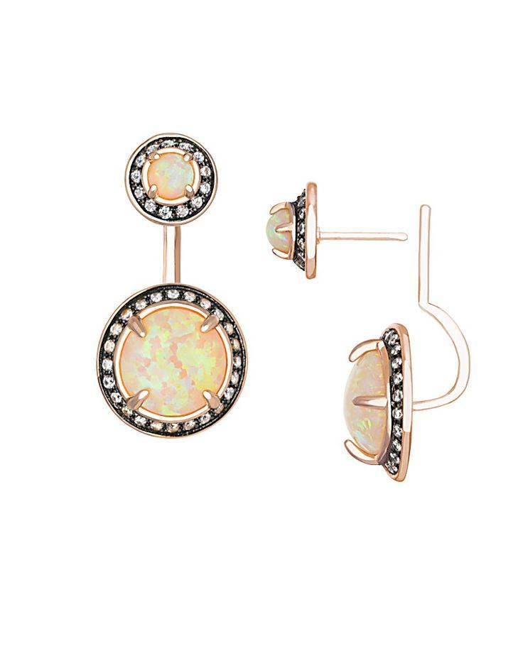 Camilla Ear Jackets in Peach Kyocera Opal - Kendra Scott Jewelry.