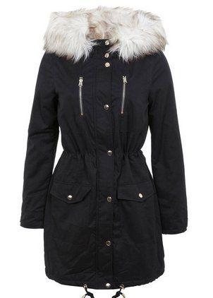 Pin for Later: 20 Manteaux à Shopper Avant Qu'il Ne Soient Plus en Stock  Miss Selfridge Parka de Luxe (125€)