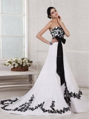 Image result for Blackwhiteweddingdress