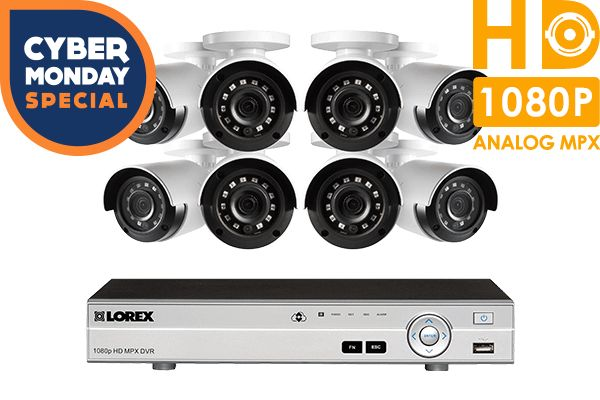 1080p Camera system with 8 channel DVR and 8 1080p outdoor security cameras