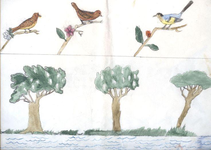 Il mio primo dipinto :-D (1956) - Acquerello su carta Fabriano, 23x32 cm.