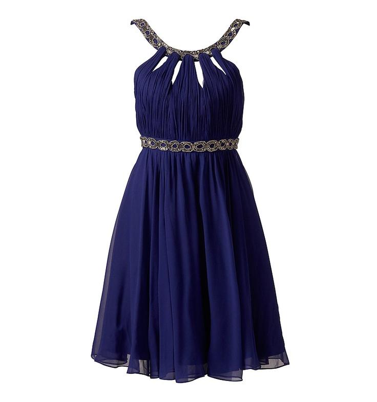 Gracie Embellished Evening Dress by Forever New (Australia)... short, navy bridesmaid dress, $157 (USD)