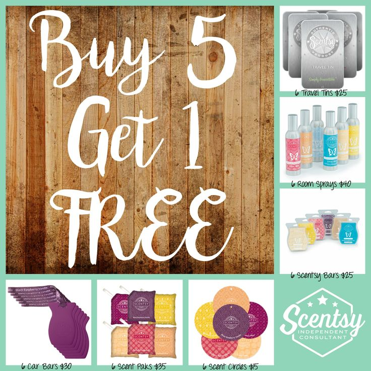 Scentsy Combine & Save Buy 5 Get 1 Free