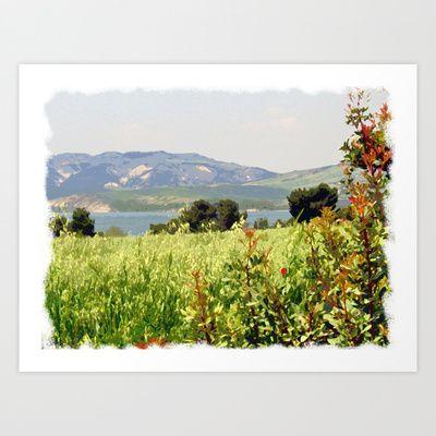 Landscape: Italy - Riserva di San Giuliano Art Print by Sonia Marazia - $15.60