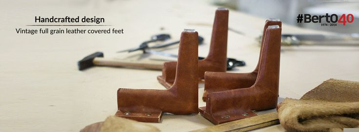 Handcrafted #design. Vintage full grain leather covered feet #bertoprogetti #madebyhand #madeinitaly