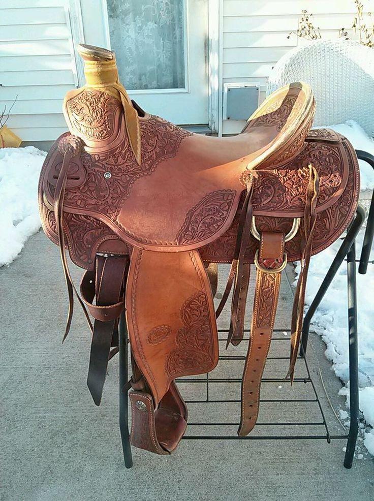 "16"" Original Billy Cook Cowboy Roper Roping Saddle - Wade Tree,"