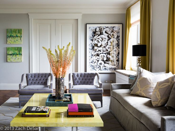 Celerie Kemble Interiors Modern Living Room Colors And Artwork