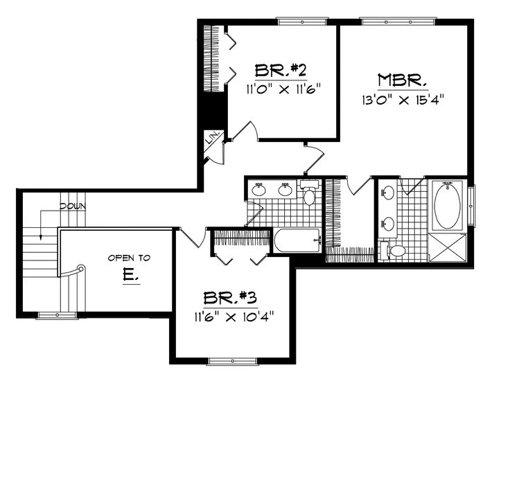 16 best house plans 14 1600sqft images on pinterest for Neoclassical house plans