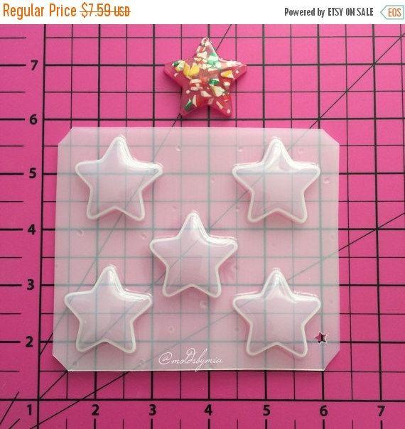 ON SALE!! Stars medium size flexible plastic mold pallet