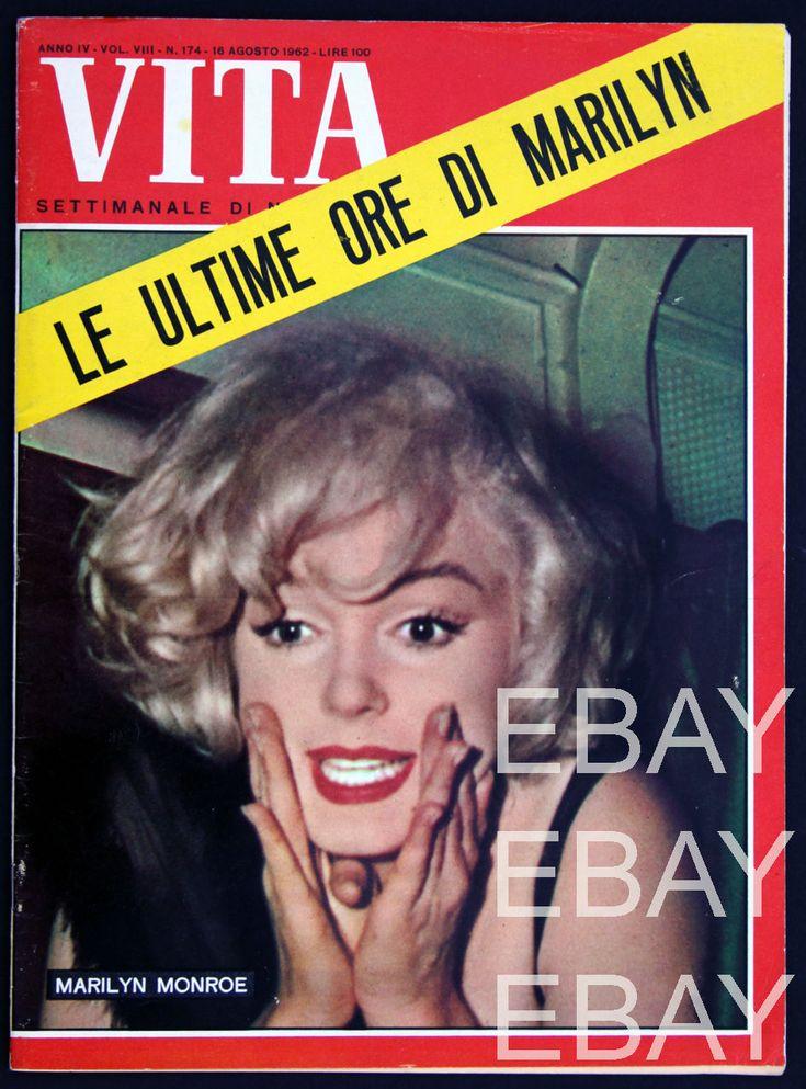 1962 vintage MARILYN MONROE DEATH on cover VITA amazing ITALY magazine RARE | eBay