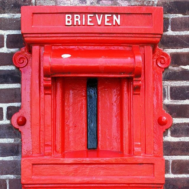 Dutch . red . mailbox . European . mail