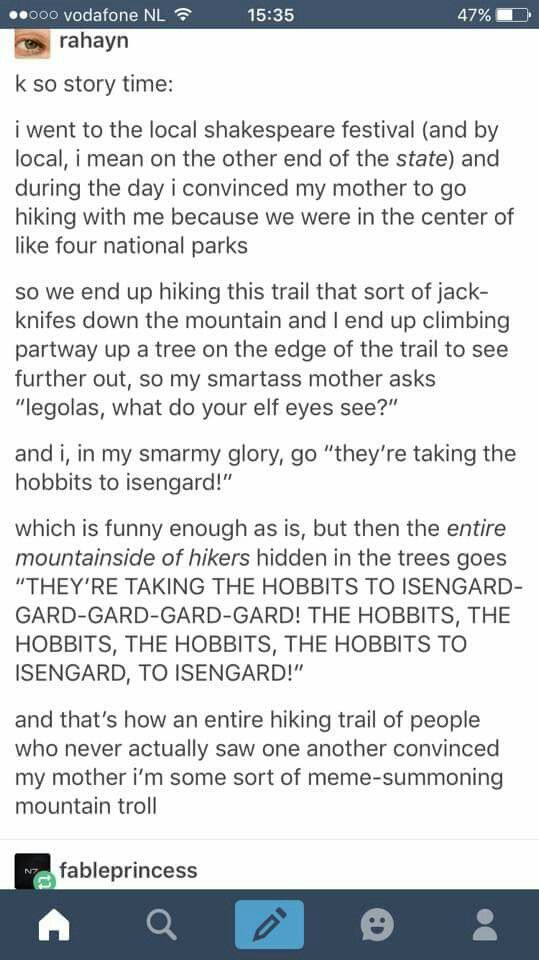 The meme-summoning mountain troll | Legolas | they're taking the hobbits to isengard song