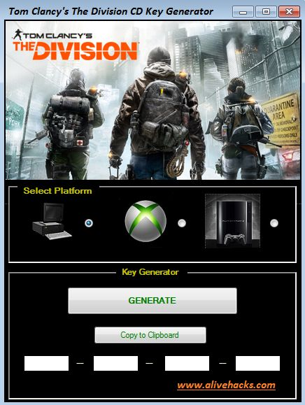 Tom Clancy's The Division CD Key Generator download online, Full version of Tom Clancy's The Division CD Key Generator no survey. Get Tom Clancy's The Division CD Key Generator updated Tom Clancy's The Division CD Key Generator. Working Tom Clancy's The Division CD Key Generator