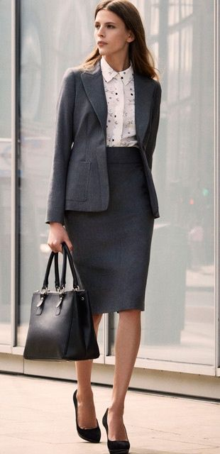 | Rita and Phill specializes in custom skirts.  Follow Rita and Phill for more tips on the unwritten rules of office fashion!  https://www.pinterest.com/ritaandphill/conservative-office-outfits/