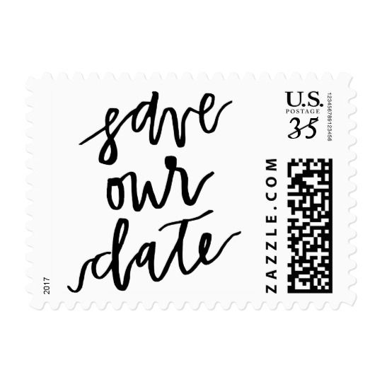 Save Our Date Postcard Postage Stamp