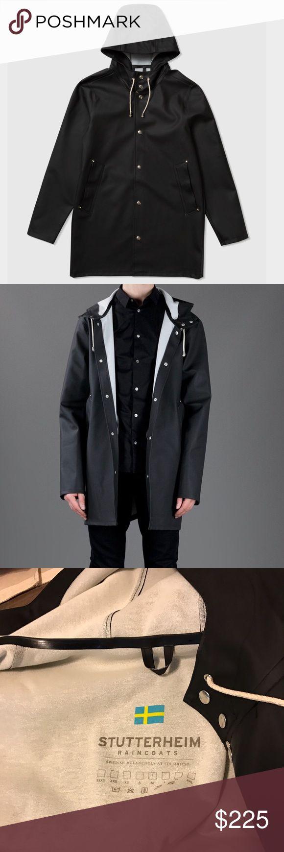 Black Men's Stutterheim raincoat This is a men's black Stutterheim rain coat, size medium. Like new, only been worn a few times. Stutterheim Jackets & Coats Raincoats