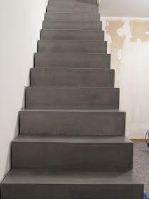 beton unique - beton cire: Beton Cire, Betontreppe vor und nach Beschichtung