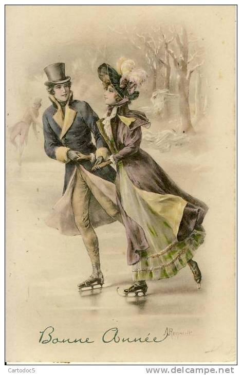 Vintage ice skater pute