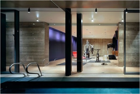 Private Fitness area inside the Farrar Residence _