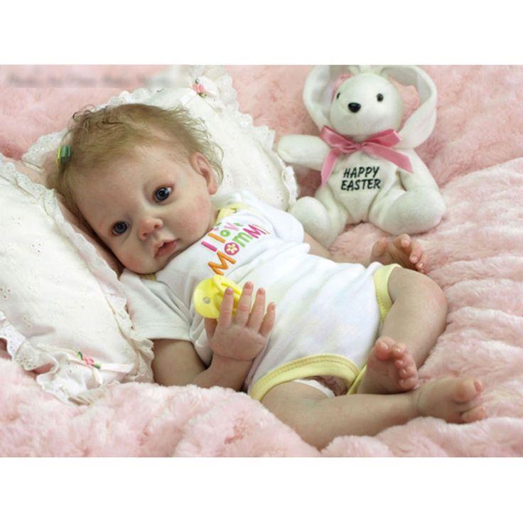 Soft Vinyl Head Reborn Doll Kit Blank 3/4 Limbs Lifelike