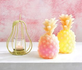 The pineapple is being a bit of a style icon this season! Add it into your home as a super cute accessory, whether on your fireplace or desk space! Oh, and it lights up ;)