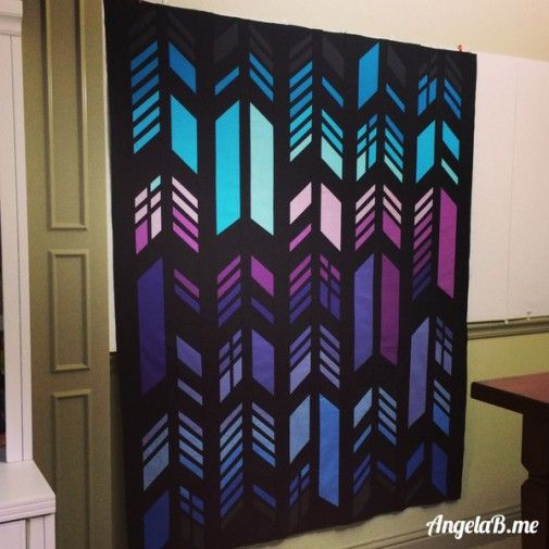 Feathers Quilt Top by AngelaB