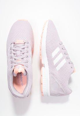 adidas Originals ZX FLUX - Sneakers - mauve/white/glow coral - Zalando.se
