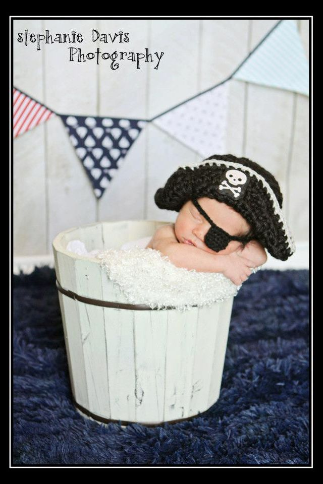 I could take pirate baby pictures for the nursery wall