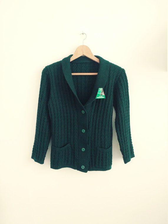 chaqueta mujer vintage lana verde botella. Rebeca por AnnaBolenna