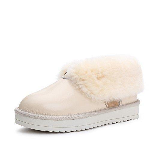 Oferta: 107.91€. Comprar Ofertas de botas de nieve de las mujeres/ agregó botas de terciopelo acolchado/Pie plano zapatos/Botas de invierno cálido-B Longitud del barato. ¡Mira las ofertas!