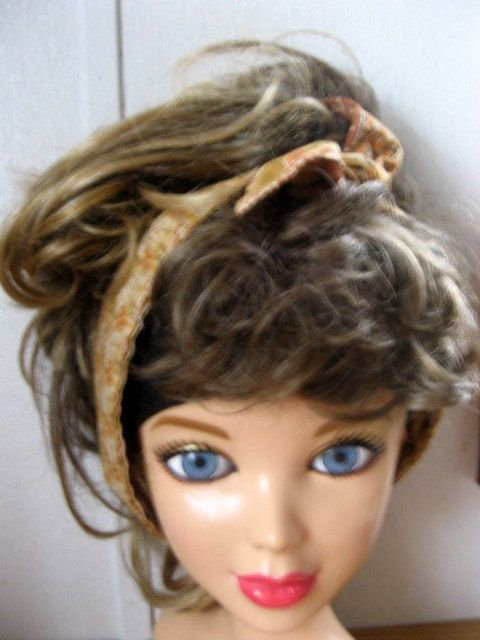 Hair Accessories, Bandana, Hair Bandana, Bandana Headband, Hair Band, Hair Scarf, PinUp Bandana, Knotted HairBand, Boho Head Band #254 by StitchesByAlida on Etsy