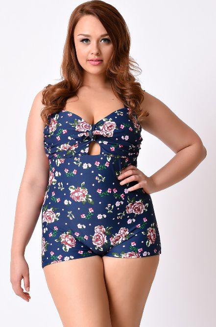 And finally this one in a beautiful rose print. | 19 Super Cute Boyleg Swimsuits