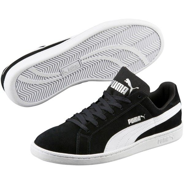 Puma Smash SD Women's Trainers, Black/White (83 AUD) ❤ liked on Polyvore featuring shoes, sneakers, tenny shoes, tennis trainer, cushioned shoes, black white shoes and grip trainer