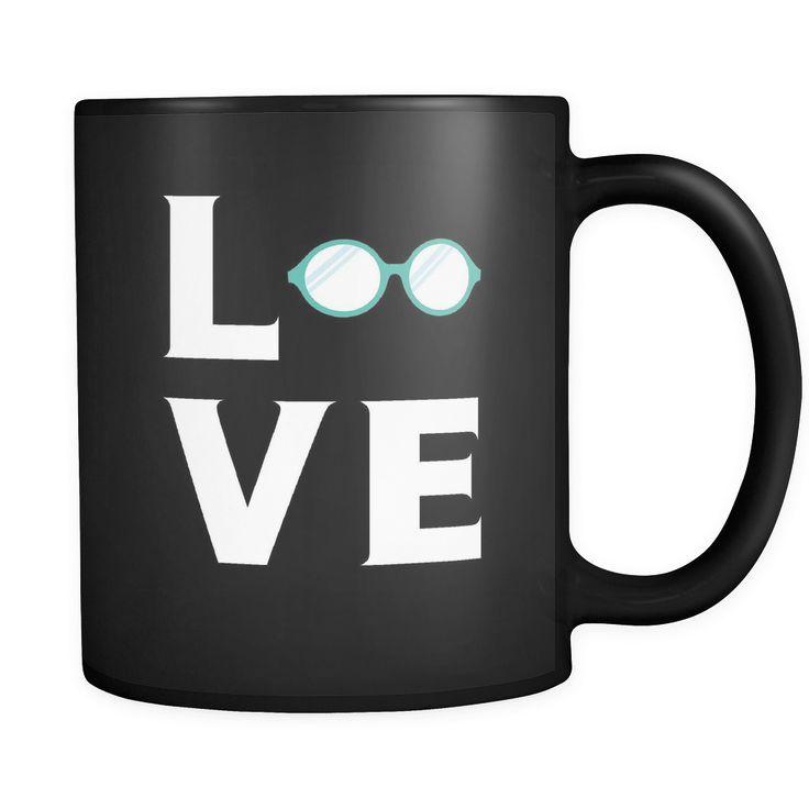 Optician / Optometrist mug - LOVE Optician / Optometrist - 11oz Black Mug
