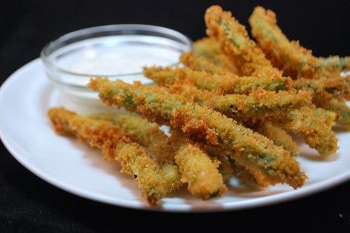 Green Bean Fries.  Made these last night and they are better than the ones at TGIFridays!