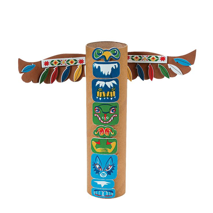 Native American Totem Pole Craft Kit - OrientalTrading.com