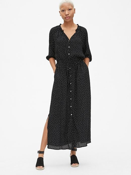 a1127c7168 Gap Women's Perfect Maxi Shirtdress Black Dots in 2019 | Products ...