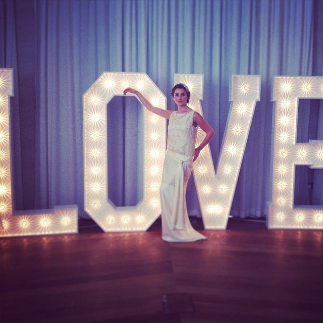 Big Lit Letters Letters With Lights Wedding Room Decoration