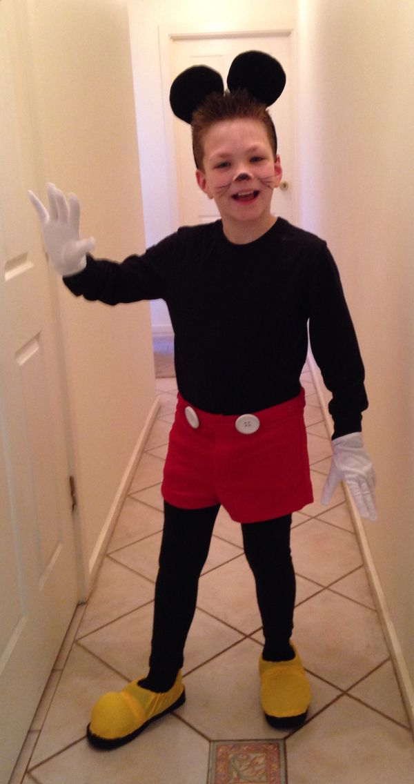 Homemade Mickey Mouse costume!! So effective but simple to make
