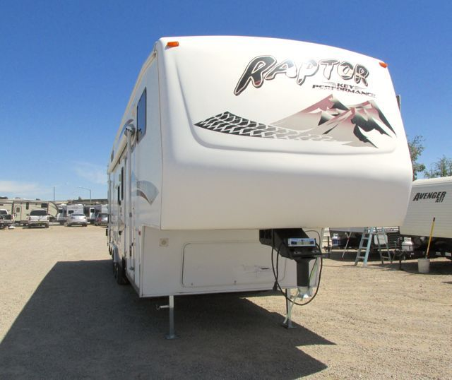 click for more info on Stock 18394 - 2006 KEYSTONE RAPTOR 3612 FIFTH WHEEL TOY HAULER