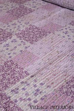 purple lavender lilac comforters | Lavender Purple Blossom Chic N Shabby King Quilt Set | eBay
