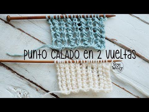 Punto Calado Vertical en dos vueltas (tricot, dos agujas, calceta) | Soy Woolly